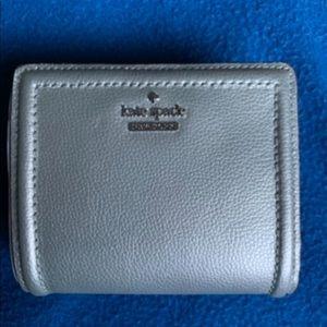 NWT Kate Spade metallic silver wallet